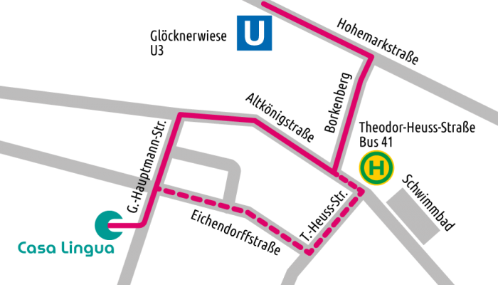 Anfahrtsplan CasaLingua Logopädie Oberursel